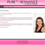 Screenshot of PureRomanceByMickey.com